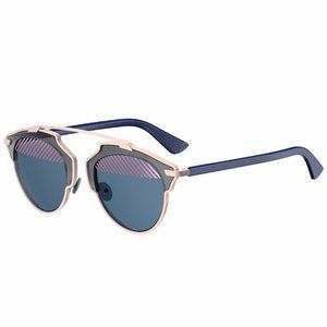 DIOR DIORSOREAL Rose Gold Blue Sunglasses